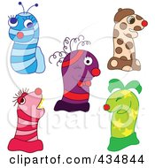 Royalty Free RF Clipart Illustration Of A Digital Collage Of Sock Puppet Monsters by Cherie Reve
