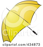 Royalty Free RF Clipart Illustration Of A Yellow Umbrella by Lal Perera