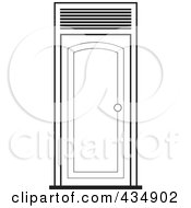 Royalty Free RF Clipart Illustration Of An Outlined Door by Lal Perera
