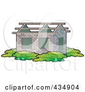 Royalty Free RF Clipart Illustration Of A New Home With An Incomplete Roof