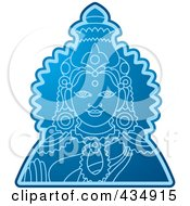 Blue Indian God 1