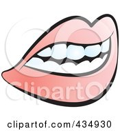 Royalty Free RF Clipart Illustration Of A Female Mouth With Lips And Teeth