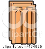 Royalty Free RF Clipart Illustration Of A Terra Cotta Tile by Lal Perera
