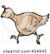 Royalty Free RF Clipart Illustration Of A Running Quail by Lal Perera