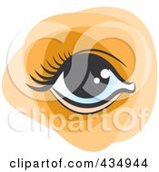 Royalty Free RF Clipart Illustration Of A Female Eye by Lal Perera