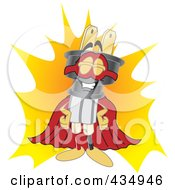 Royalty Free RF Clipart Illustration Of An Electric Plug Mascot Super Hero by Toons4Biz