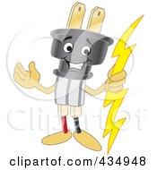 Electric Plug Mascot