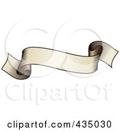 Royalty Free RF Clipart Illustration Of An Antique Ribbon Banner 3