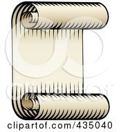 Royalty Free RF Clipart Illustration Of An Antique Scroll Banner 4
