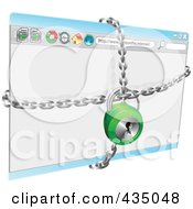 Royalty Free RF Clipart Illustration Of A Locked Secure Internet Browser by AtStockIllustration