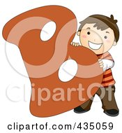 Royalty Free RF Clipart Illustration Of A Kid Letter B With A Little Boy by BNP Design Studio