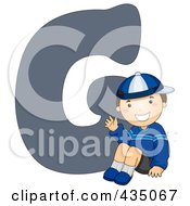 Royalty Free RF Clipart Illustration Of A Kid Letter G With A Little Boy by BNP Design Studio