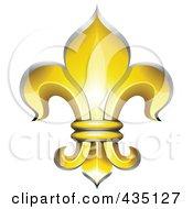 Golden Fleur De Lys Symbol