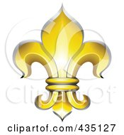 Royalty Free RF Clipart Illustration Of A Golden Fleur De Lys Symbol by Oligo