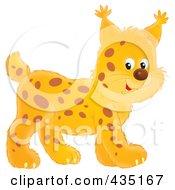 Royalty Free RF Clipart Illustration Of A Cute Walking Lynx by Alex Bannykh