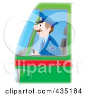 Royalty Free RF Clipart Illustration Of A Bus Driver by Alex Bannykh