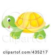 Royalty Free RF Clipart Illustration Of A Cute Tortoise by Alex Bannykh