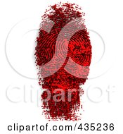 Royalty Free RF Clipart Illustration Of A Fingerprint Made Of Black And Red Ink by Tonis Pan
