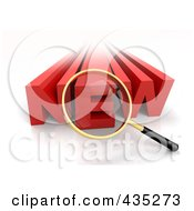 Royalty Free RF Clipart Illustration Of A 3d Magnifying Glass Over The Red Word NEW by Tonis Pan