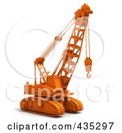 Royalty Free RF Clipart Illustration Of A 3d Orange Industrial Construction Crane