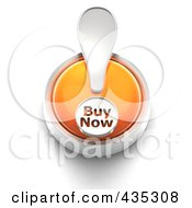 Royalty Free RF Clipart Illustration Of A 3d Orange Buy Now Button by Tonis Pan