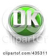 Royalty Free RF Clipart Illustration Of A 3d Green OK Button
