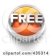 Royalty Free RF Clipart Illustration Of A 3d Orange FREE Button