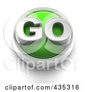 Royalty Free RF Clipart Illustration Of A 3d Green Go Button