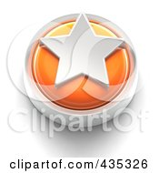 Royalty Free RF Clipart Illustration Of A 3d Orange Star Button by Tonis Pan