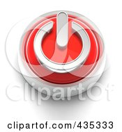 Royalty Free RF Clipart Illustration Of A 3d Red Power Button