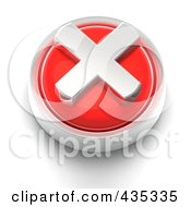 Royalty Free RF Clipart Illustration Of A 3d Red X Button