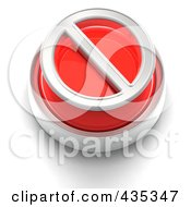 Royalty Free RF Clipart Illustration Of A 3d Red Restriction Button