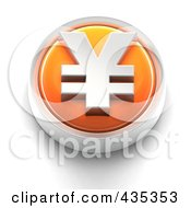 Royalty Free RF Clipart Illustration Of A 3d Orange Yen Button by Tonis Pan