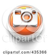 Royalty Free RF Clipart Illustration Of A 3d Orange Camera Button