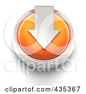 Royalty Free RF Clipart Illustration Of A 3d Orange Download Button