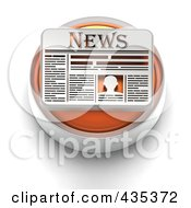 Royalty Free RF Clipart Illustration Of A 3d Orange News Button by Tonis Pan