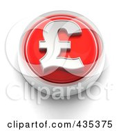 Royalty Free RF Clipart Illustration Of A 3d Red Pound Button by Tonis Pan