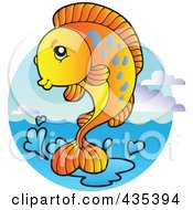 Logo Of An Orange Freshwater Fish 3