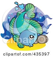 Logo Of A Blue An Green Freshwater Fish