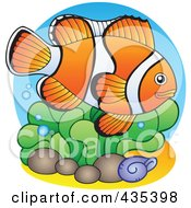 Royalty Free RF Clipart Illustration Of A Logo Of A Marine Fish 3 by visekart