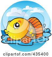 Logo Of An Orange Freshwater Fish 2