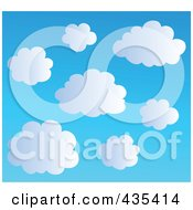 Royalty Free RF Clipart Illustration Of A Blue Sky With Clouds 2