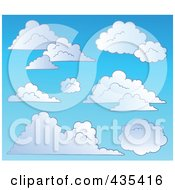 Royalty Free RF Clipart Illustration Of A Blue Sky With Clouds 3