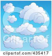 Royalty Free RF Clipart Illustration Of A Blue Sky With Clouds 1