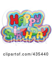 Royalty Free RF Clipart Illustration Of Colorful Happy Birthday Text by visekart