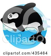 Royalty Free RF Clipart Illustration Of A Logo Of An Orca