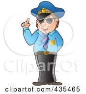 Royalty Free RF Clipart Illustration Of An Advising Police Officer by visekart