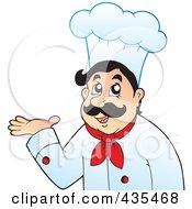 Friendly Male Chef Presenting