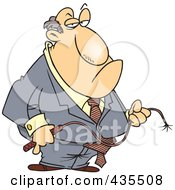 Royalty Free RF Clipart Illustration Of A Fat Caucasian Businessman Holding A Whip