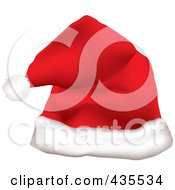 Royalty Free RF Clipart Illustration Of A Red Father Christmas Santa Hat by michaeltravers